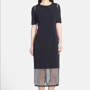 Elie Tahari Nora Black Caged Bottom Dress size 4
